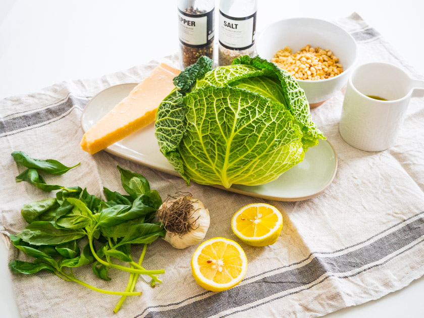 Grünkohl Pesto Zutaten