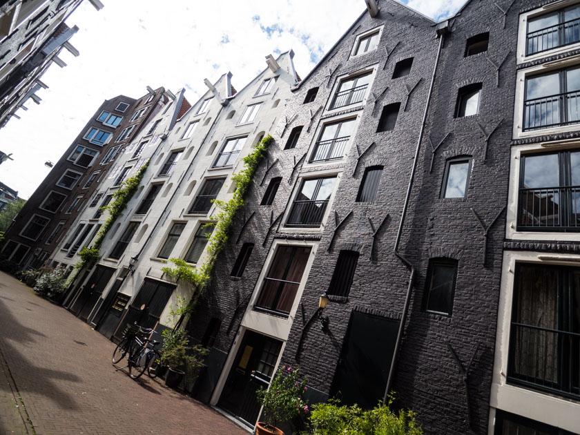 Amsterdam mit Kindern Häuserfront
