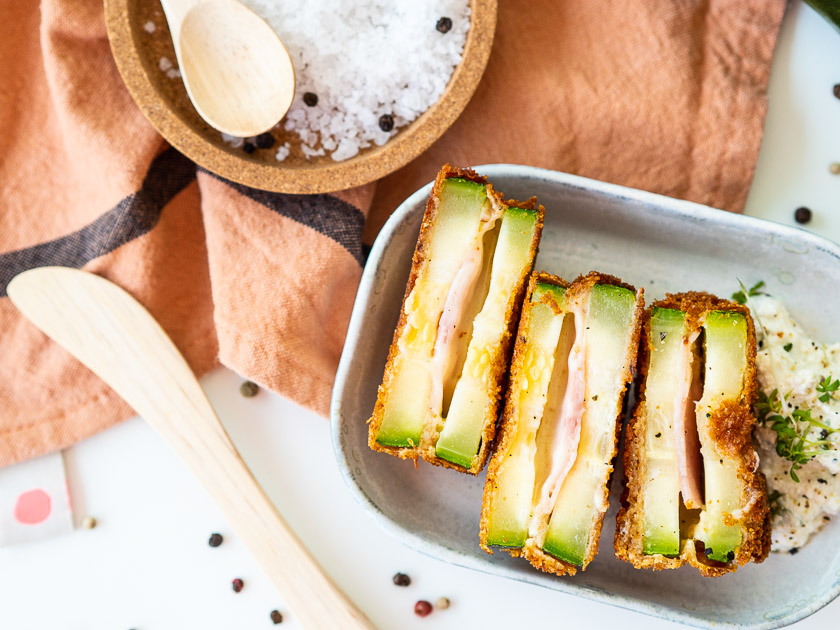 Rezept Gefüllte Zucchini Fritters_Zucchini Cordon Blue